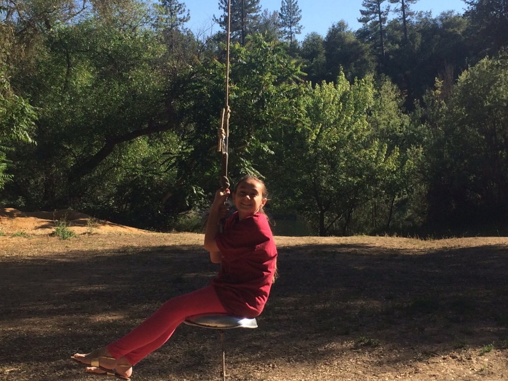Swinging was a favorite past time.